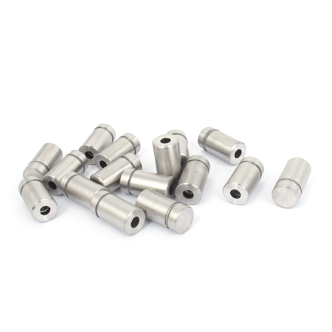 12mm x 22mm Stainless Steel Advertising Frameless Glass Standoff Pins 16pcs