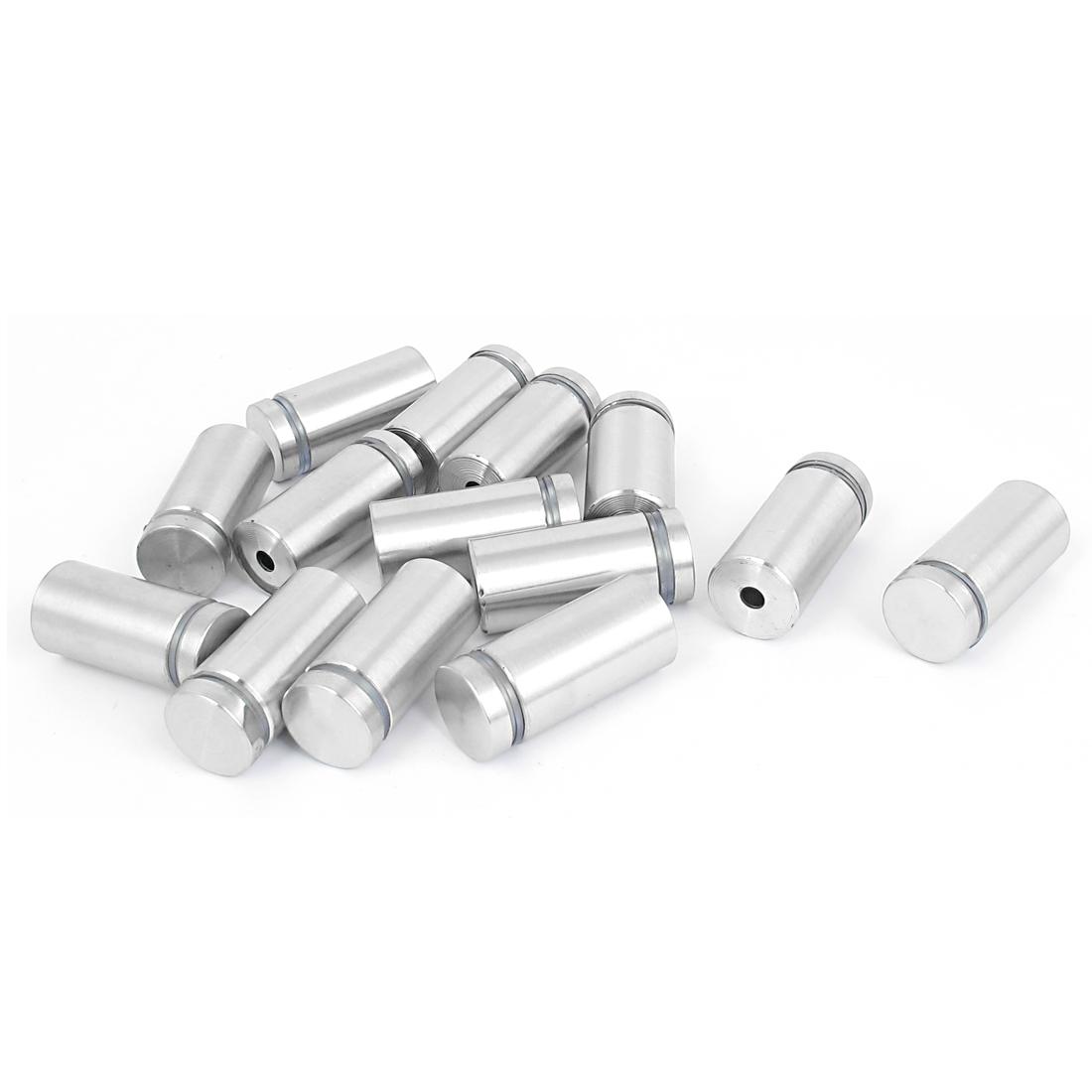 19mm x 40mm Stainless Steel Advertising Frameless Glass Standoff Pins 14pcs