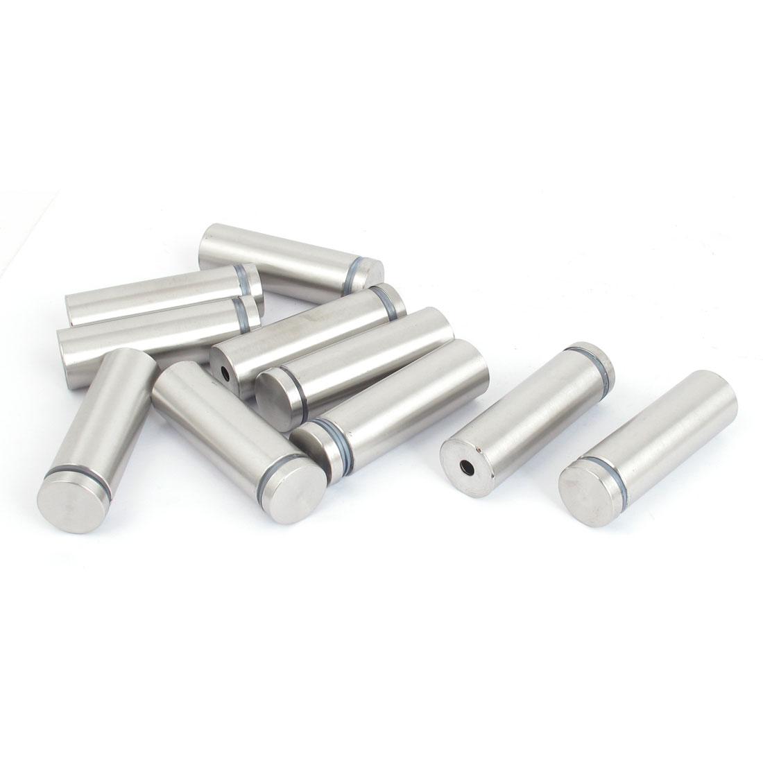 19mm x 60mm Stainless Steel Advertising Frameless Glass Standoff Pins 10pcs