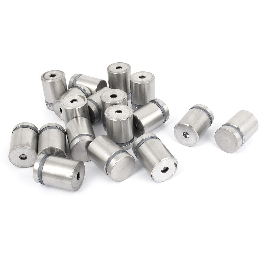19mm x 25mm Stainless Steel Advertising Frameless Glass Standoff Pins 18pcs