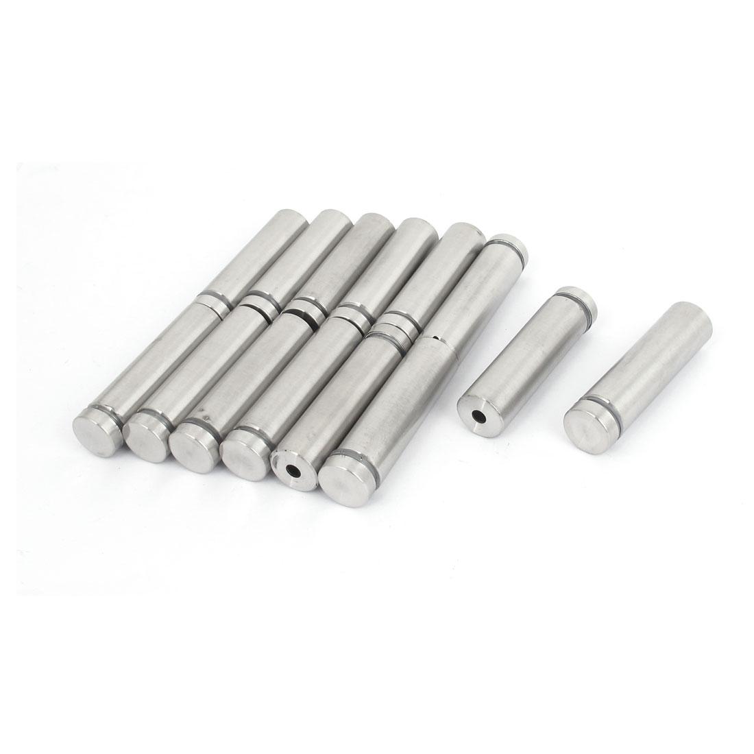 16mm x 60mm Stainless Steel Advertising Frameless Glass Standoff Pins 14pcs