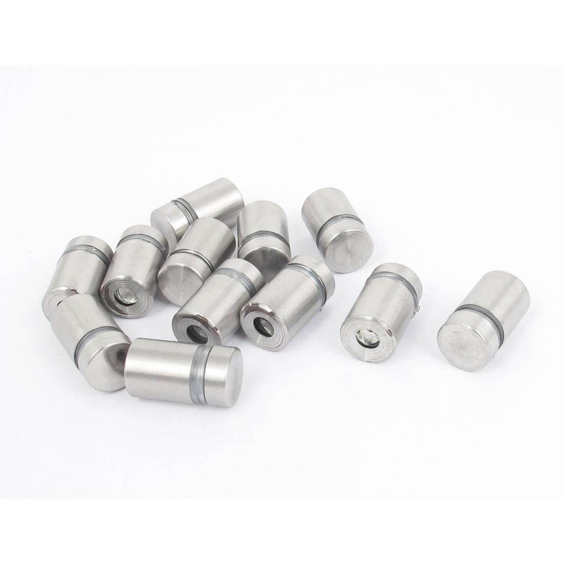 12mm x 20mm Stainless Steel Advertising Frameless Glass Standoff Pins 12pcs