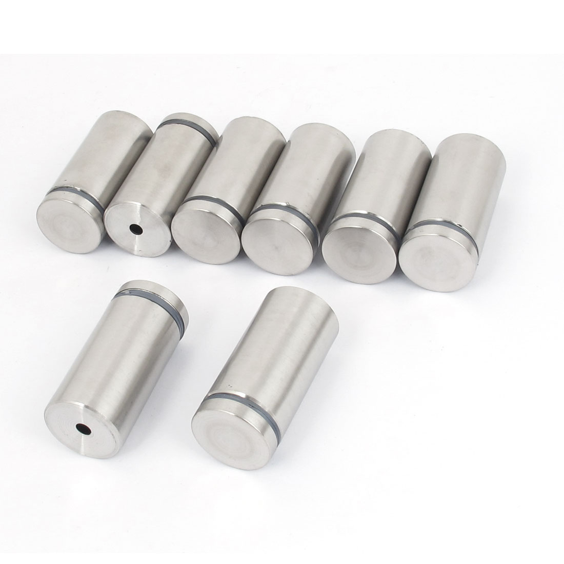 25mm x 50mm Stainless Steel Advertising Frameless Glass Standoff Pin Clamp 8pcs