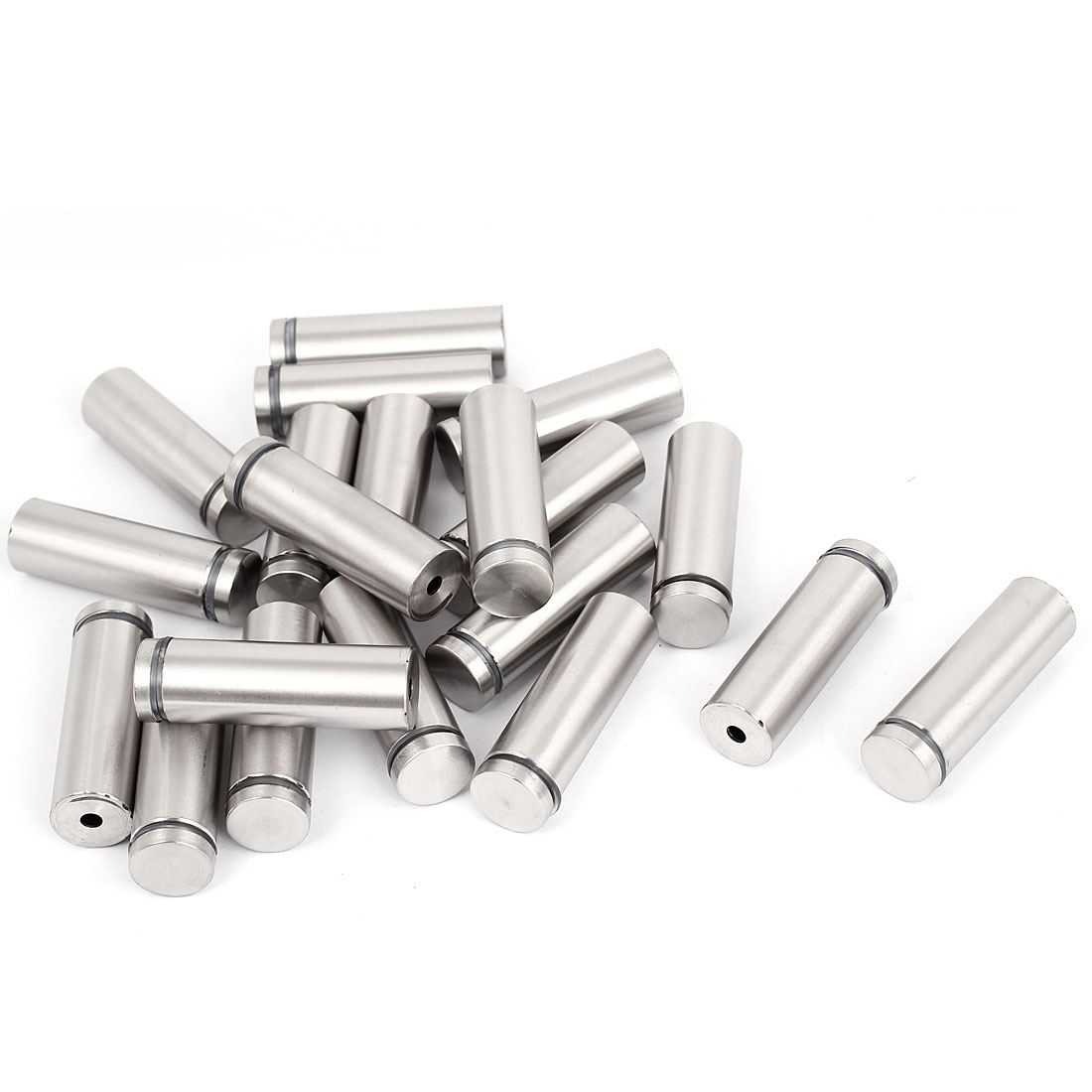 19mm x 60mm Stainless Steel Advertising Frameless Glass Standoff Pins 20pcs