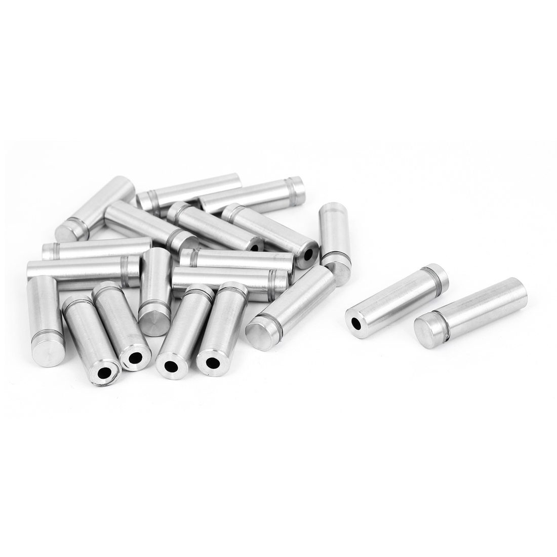 12mm x 40mm Stainless Steel Advertising Frameless Glass Standoff Pins 20pcs