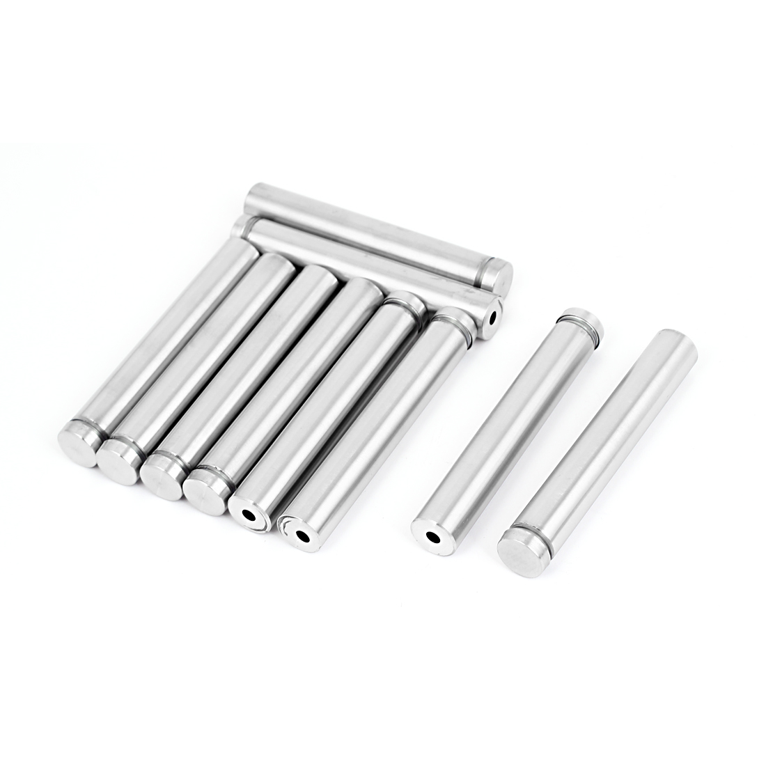 16mm x 100mm Stainless Steel Advertising Frameless Glass Standoff Pin 10pcs