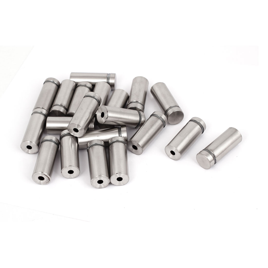 16mm x 40mm Stainless Steel Advertising Frameless Glass Standoff Pins 20pcs