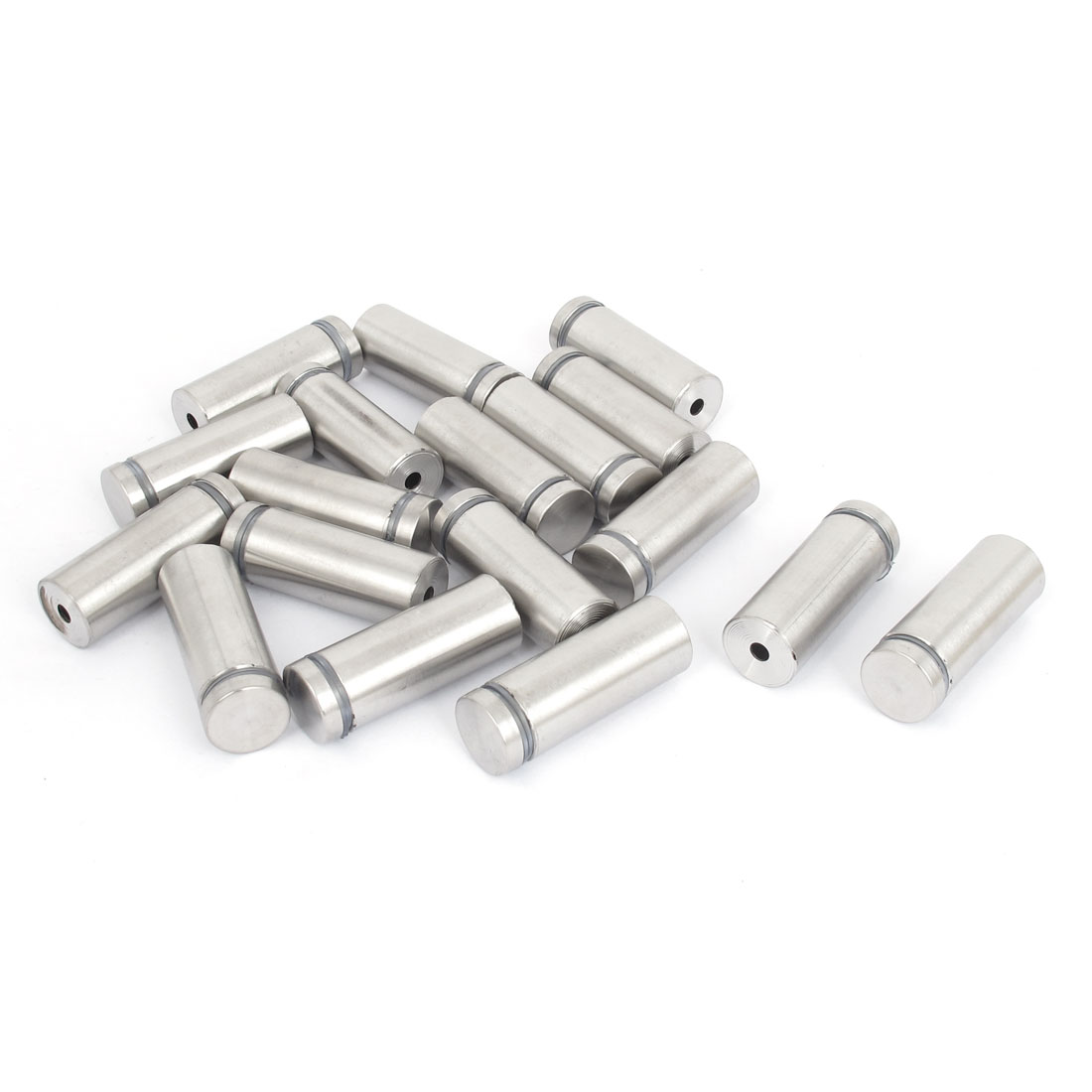 19mm x 50mm Stainless Steel Advertising Frameless Glass Standoff Pins 18pcs