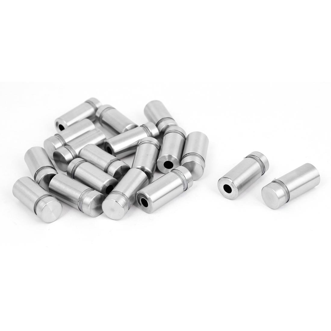 12mm x 25mm Stainless Steel Advertising Frameless Glass Standoff Pins 18pcs