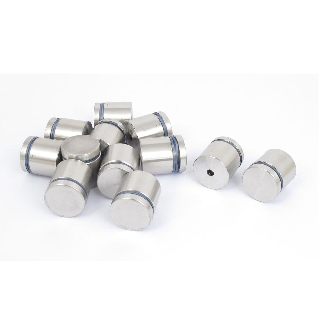 25mm x 25mm Stainless Steel Advertising Frameless Glass Standoff Pins 12pcs