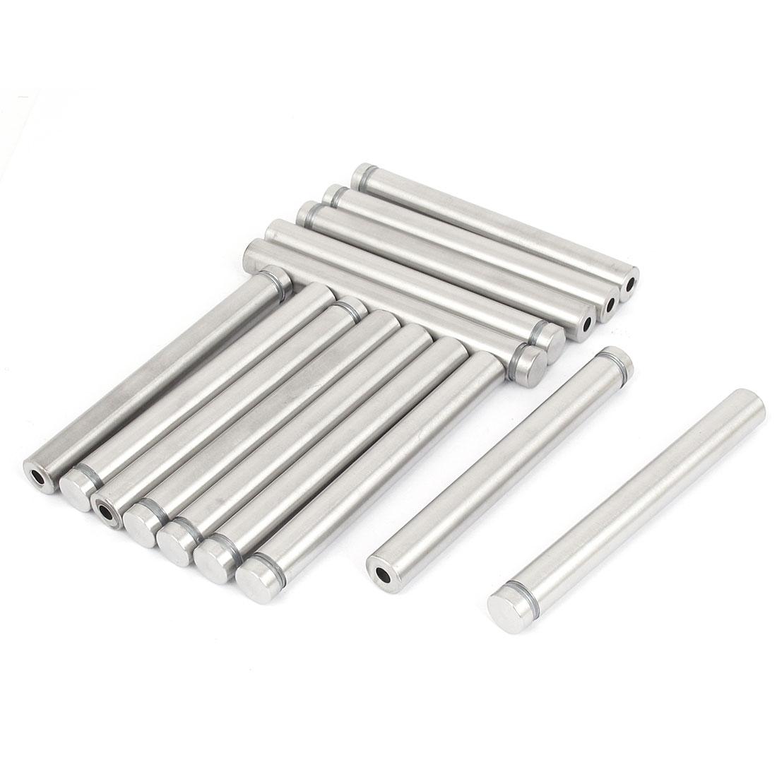 12mm x 100mm Stainless Steel Advertising Frameless Glass Standoff Pin 14pcs