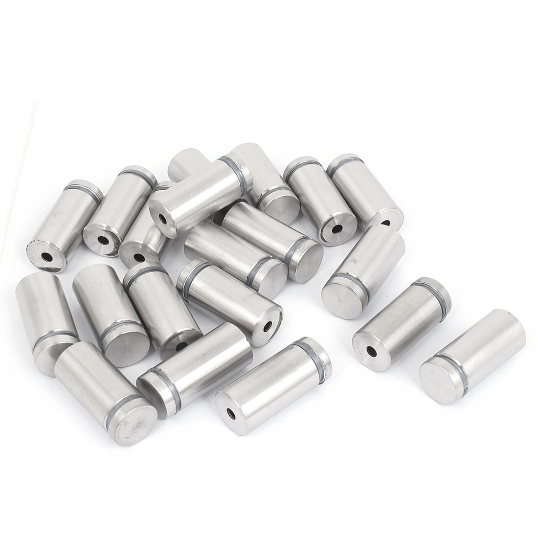 19mm x 40mm Stainless Steel Advertising Frameless Glass Standoff Pins 20pcs