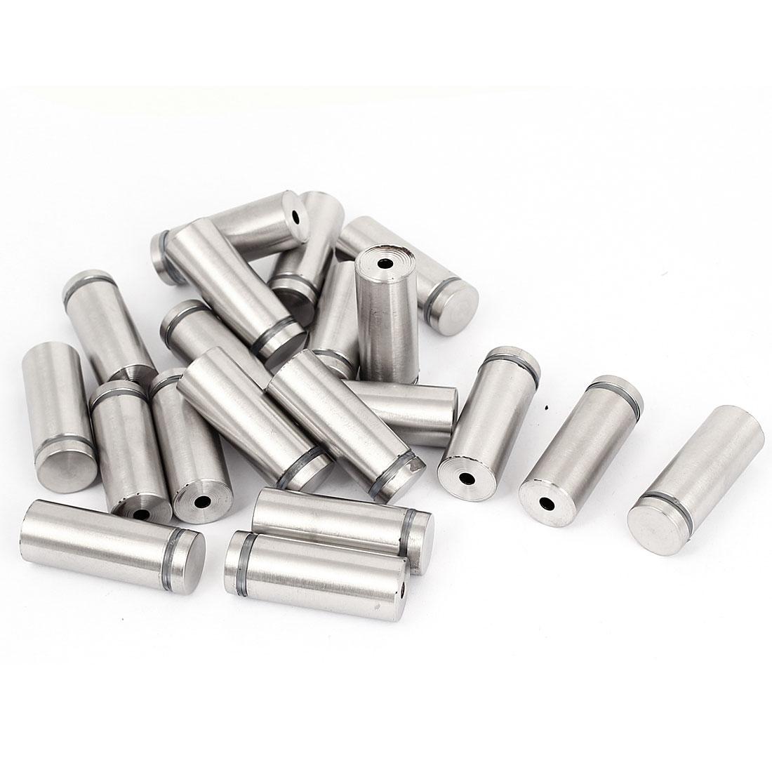 19mm x 50mm Stainless Steel Advertising Frameless Glass Standoff Pins 20pcs