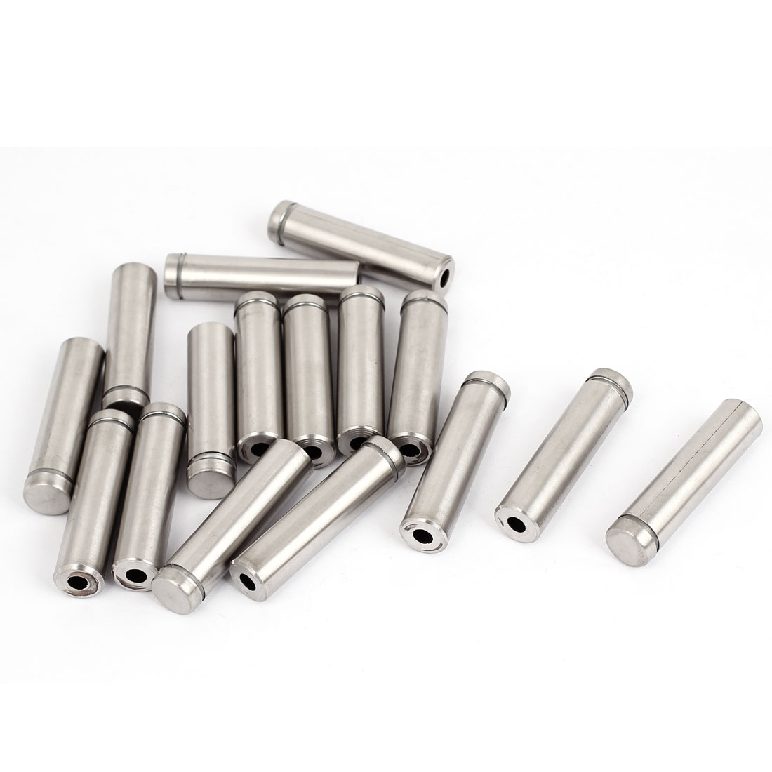 12mm x 50mm Stainless Steel Advertising Frameless Glass Standoff Pins 16pcs
