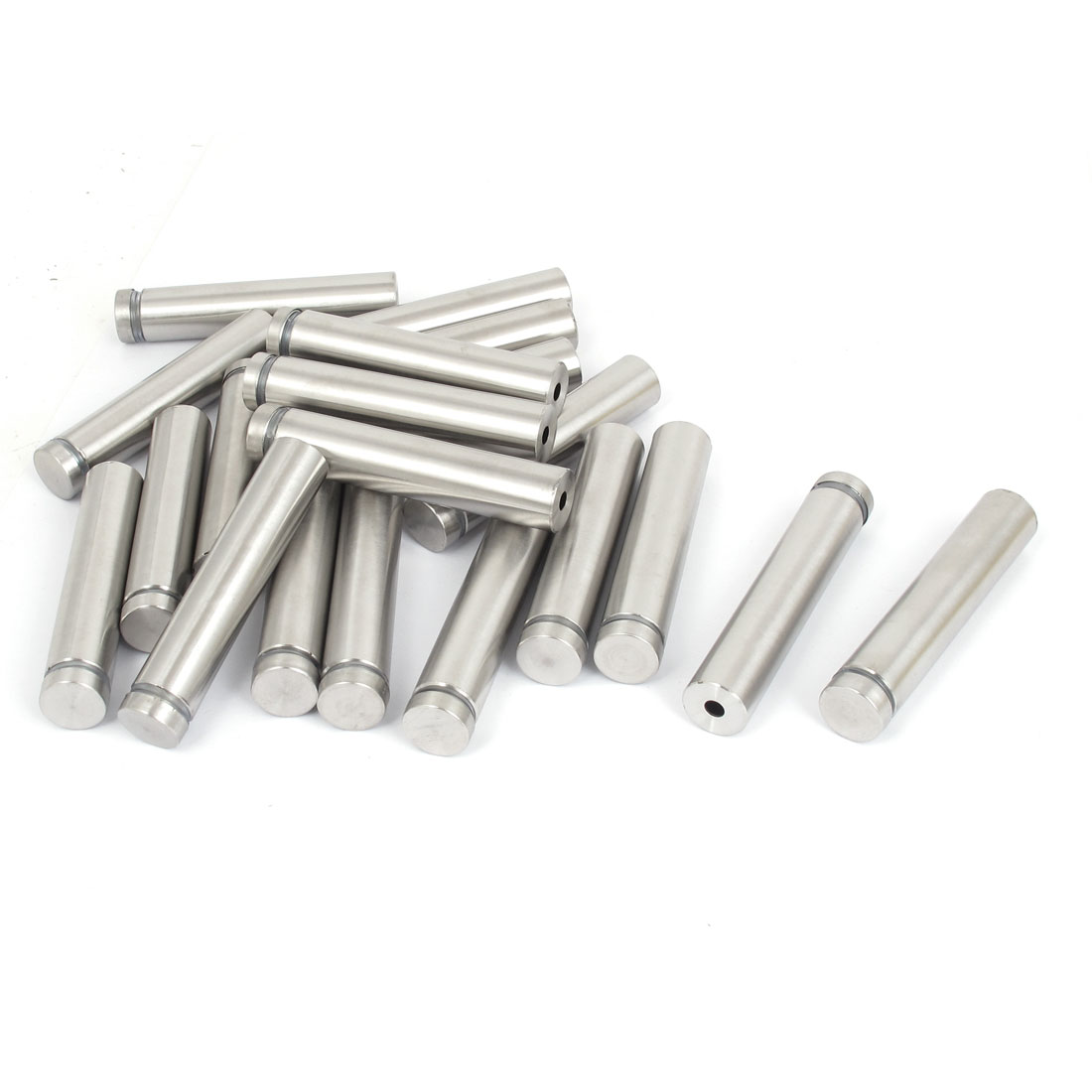 16mm x 80mm Stainless Steel Advertising Frameless Glass Standoff Pins 20pcs