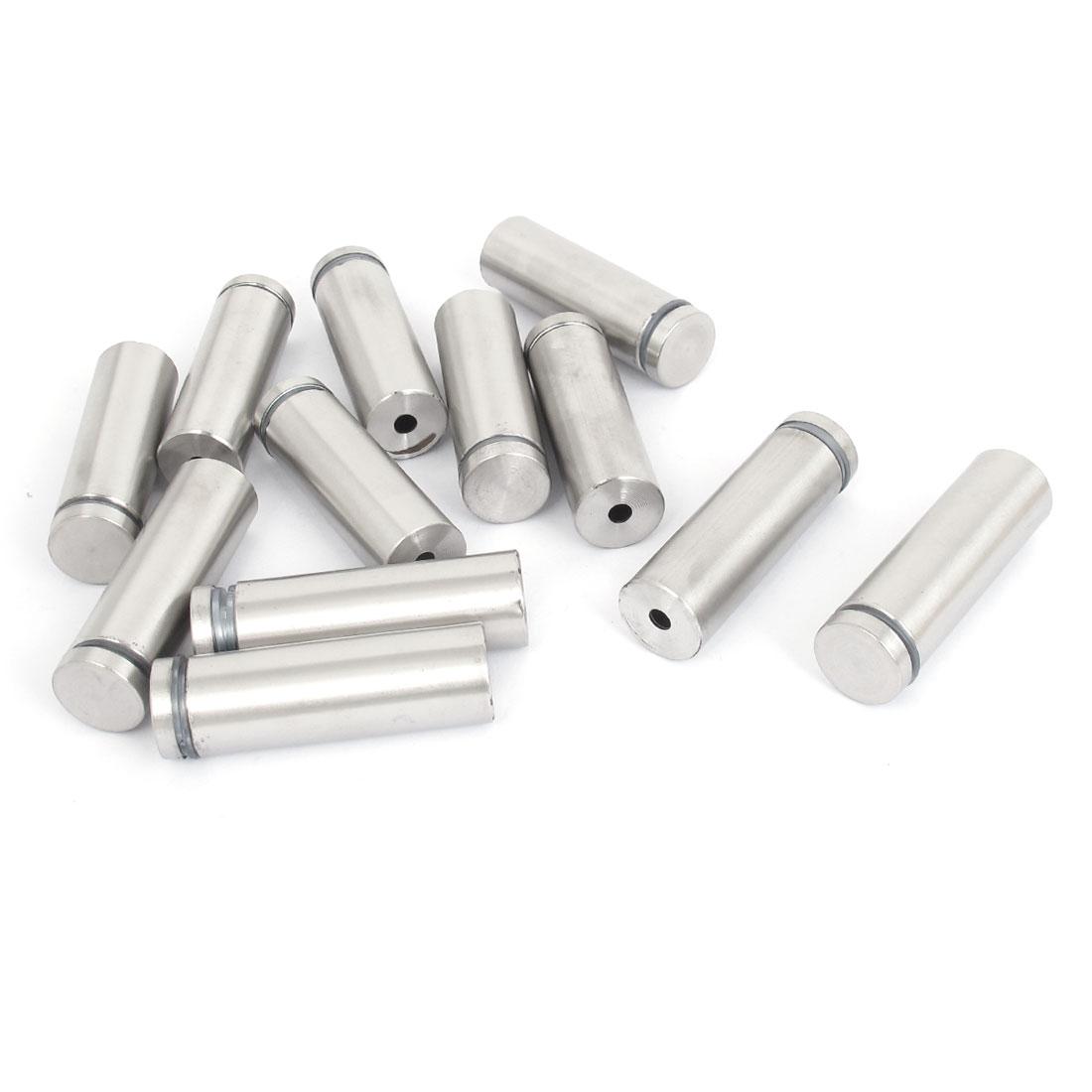 19mm x 60mm Stainless Steel Advertising Frameless Glass Standoff Pins 12pcs