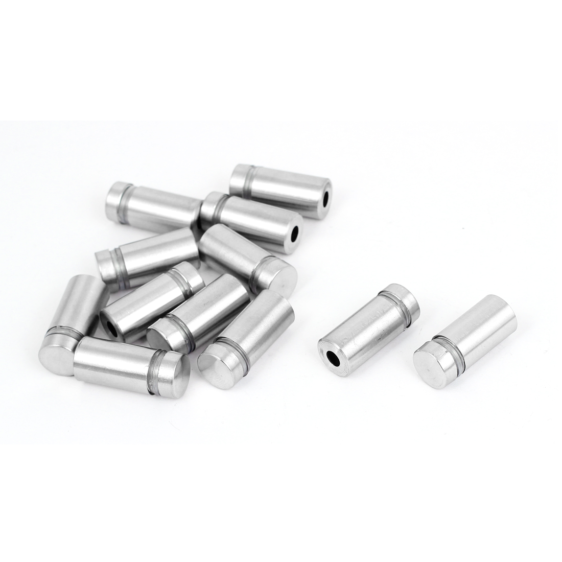 12mm x 25mm Stainless Steel Advertising Frameless Glass Standoff Pins 12pcs