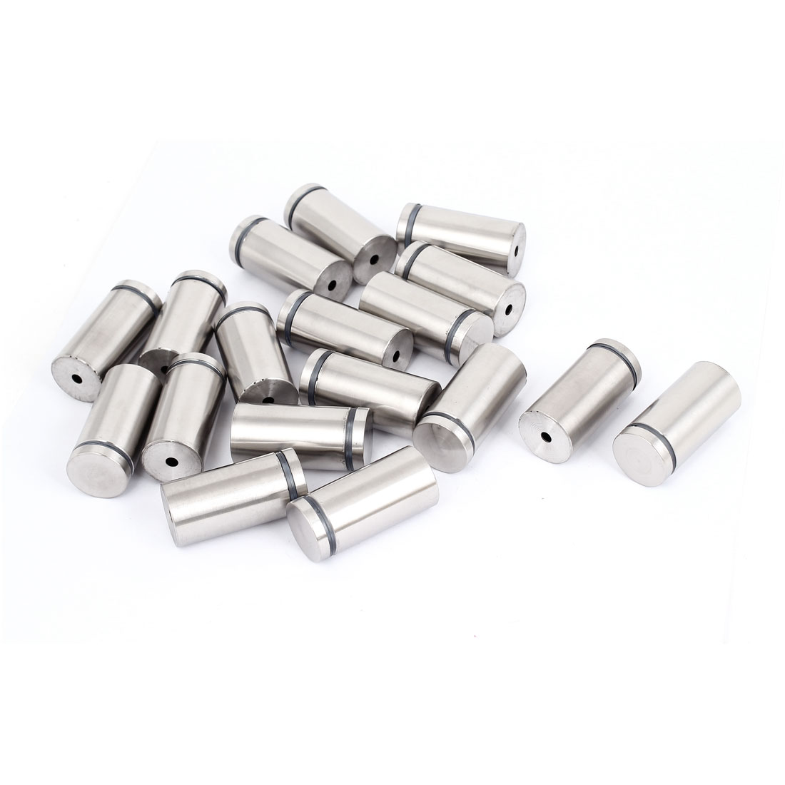 25mm x 50mm Stainless Steel Advertising Frameless Glass Standoff Pins 18pcs