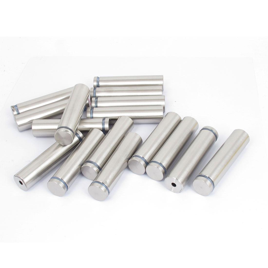 19mm x 80mm Stainless Steel Advertising Frameless Glass Standoff Pins 16pcs
