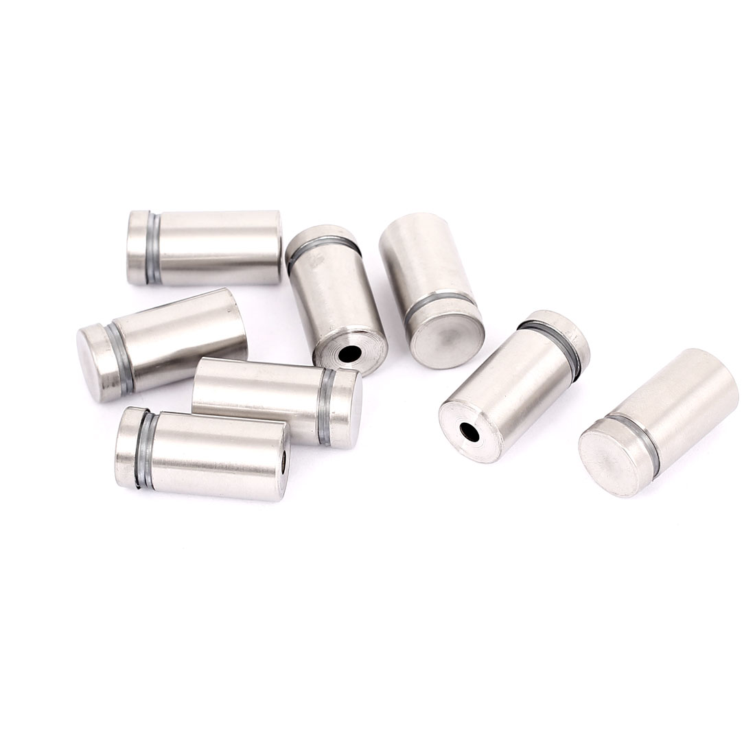 16mm x 30mm Stainless Steel Advertising Frameless Glass Standoff Pins Clamp 8pcs
