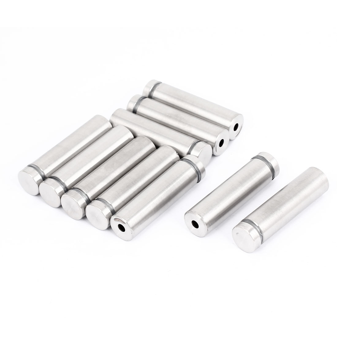 16mm x 60mm Stainless Steel Advertising Frameless Glass Standoff Pins 10pcs