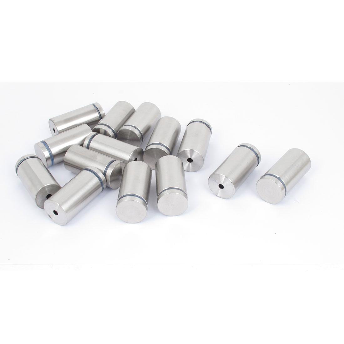 25mm x 50mm Stainless Steel Advertising Frameless Glass Standoff Pins 14pcs