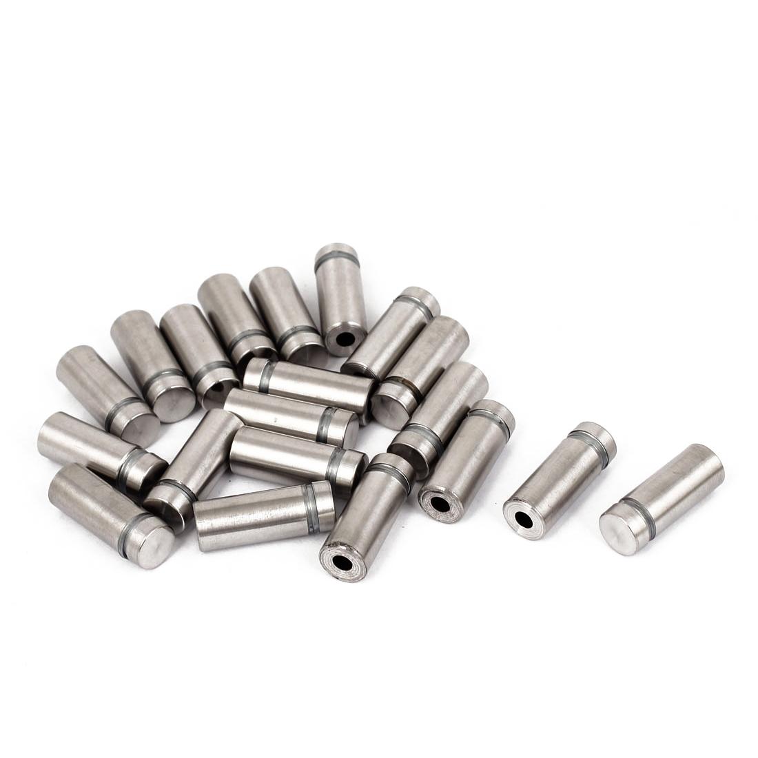 12mm x 30mm Stainless Steel Advertising Frameless Glass Standoff Pins 20pcs