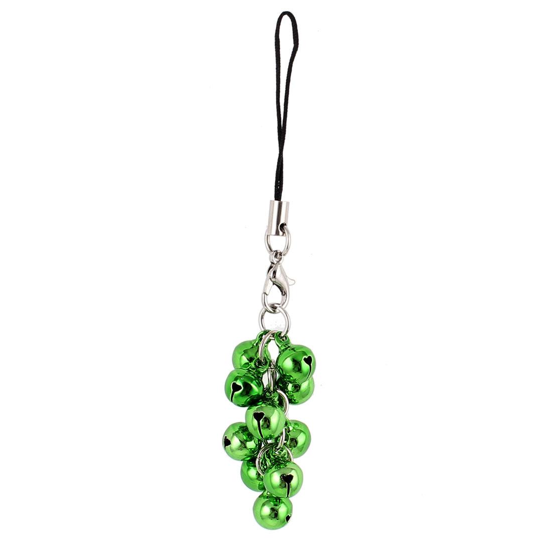 Cell Phone Bell Pendant Nylon Charm Strap Ornament 10cm Length Green
