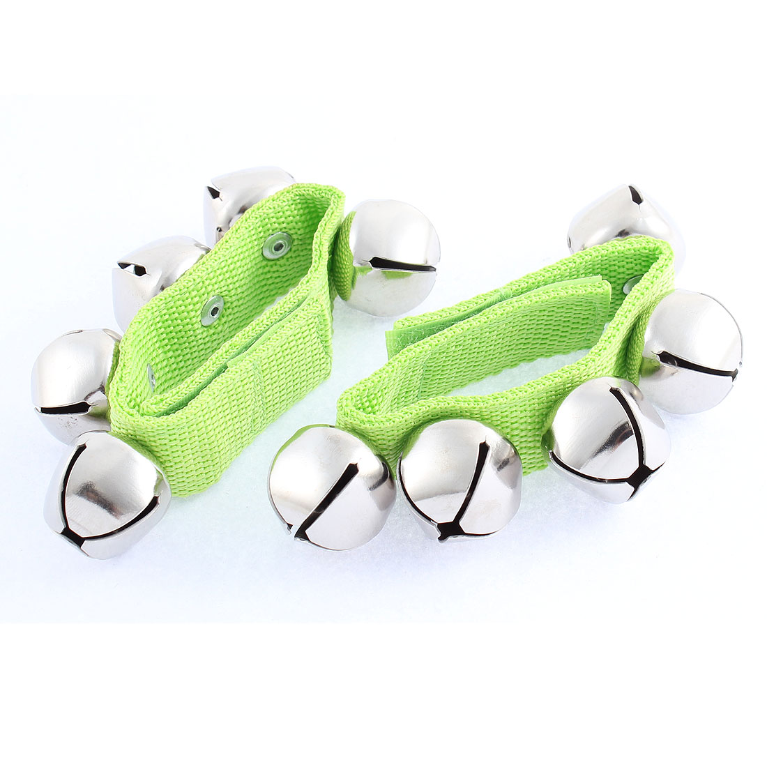 2 Pcs Pet Dog Bell Stick Shaker Rattle Wrist Bracelet Hand Ankle Strap Green