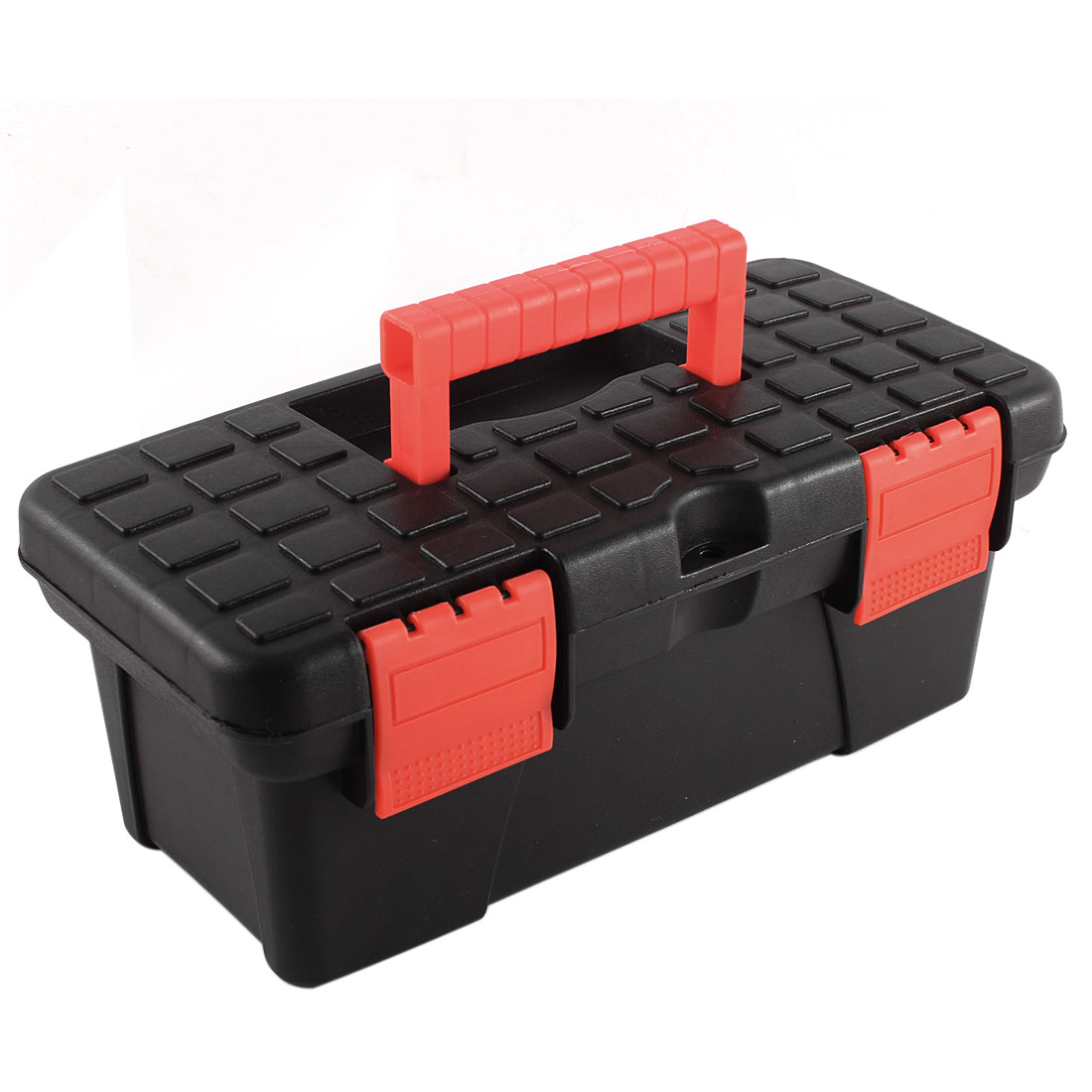 Electrician Engineer Plastic Dual Layers Tools Hardware Storage Box Black Red