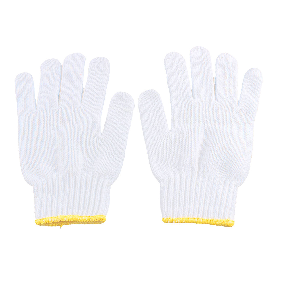 Yellow Rubber Dots Anti-slide Design Elastic Cuff Housework Working Gloves Pair