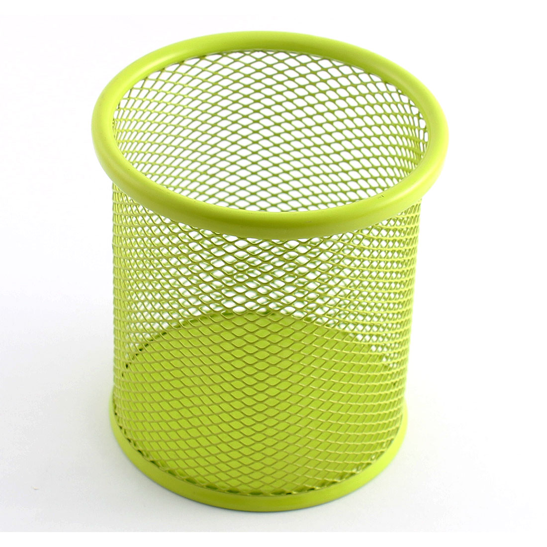 Office Desk Mesh Metal Pen Pencil Holder Cosmetic Stationery Organizer Green
