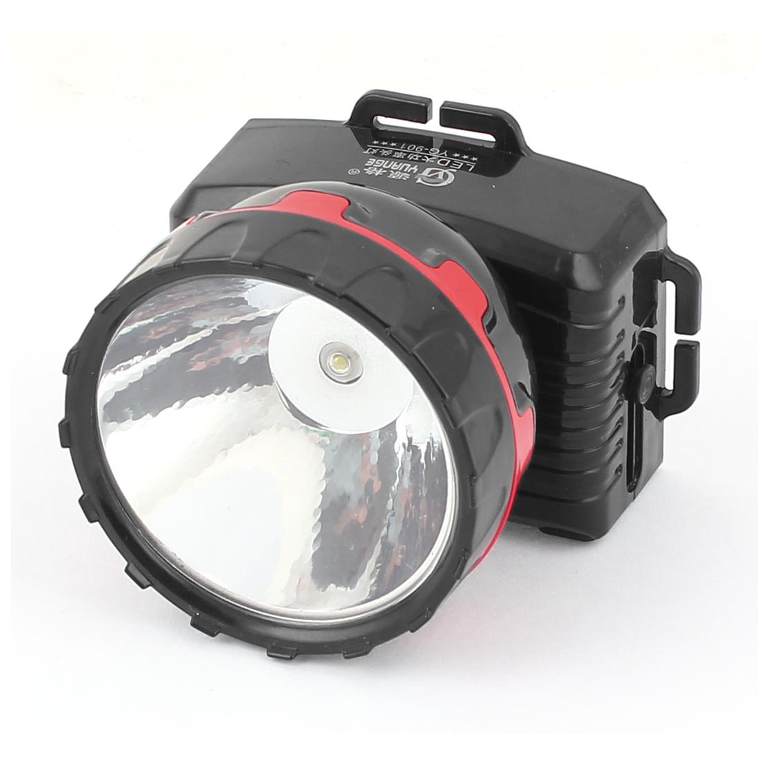 AC 110-240V LED Charge EU Plug Camping Head Torch Headlight Headlamp