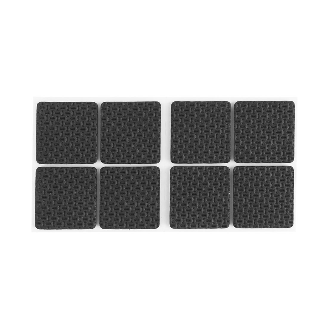 Furniture Square Shaped Self-adhesive Anti-slip Cushion Pads Mat 8 Pcs Black