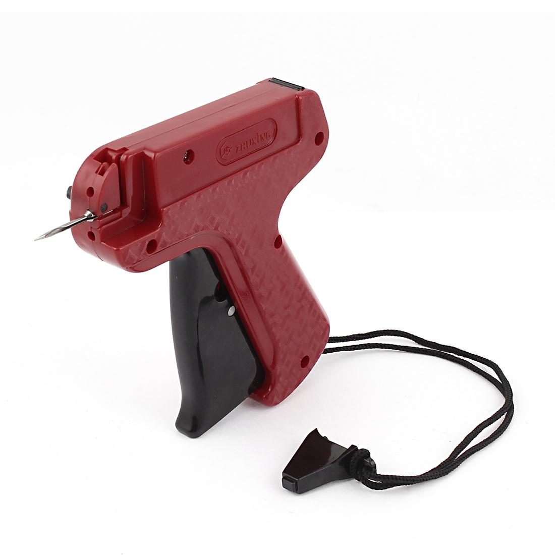 Red Black Plastic Garment Price Labelling Tagging Needle Gun