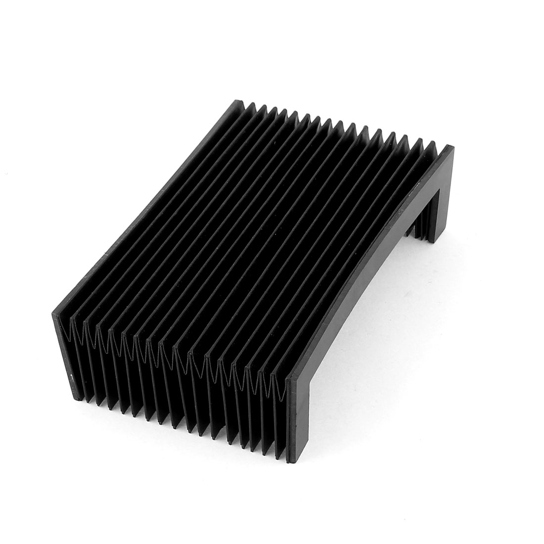 CNC Machine Fitting Flexible Foldable Accordion Dust Cover 30 x 18 x 5cm Black