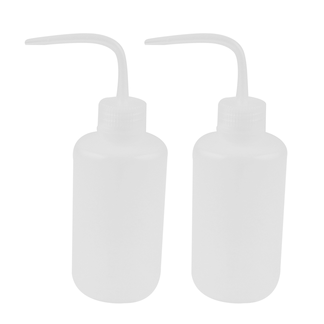 Lab Right Angle Bent Tip Plastic Liquid Storage Squeeze Bottle Dispenser 250mL 2 Pcs