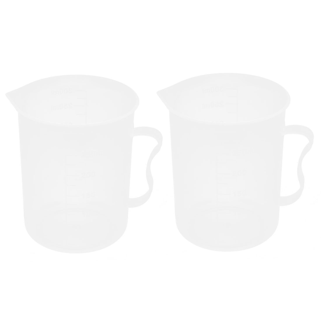 Lab Chemistry Experiment Liquid Storage Measuring Testing Beaker Cup 300ml 2 Pcs