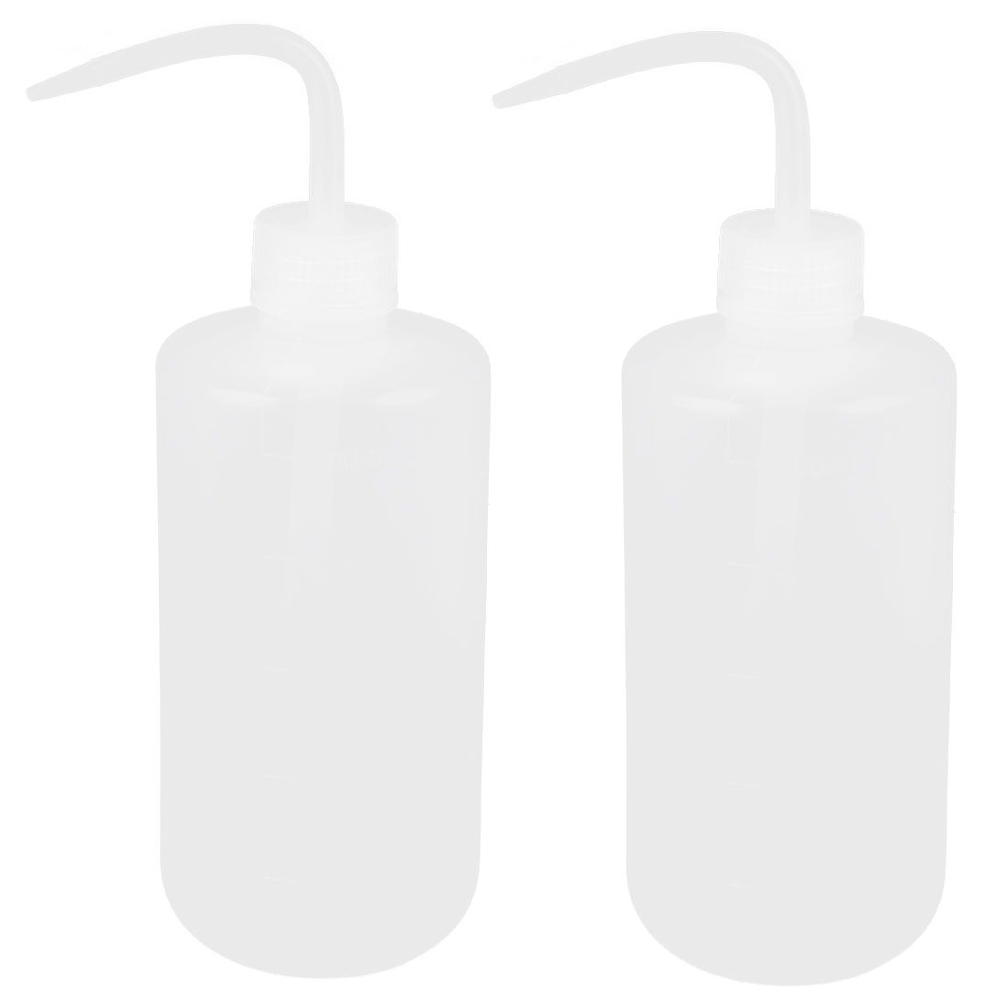 Lab Right Angle Bent Tip Plastic Liquid Storage Squeeze Bottle Dispenser 500mL 2 Pcs