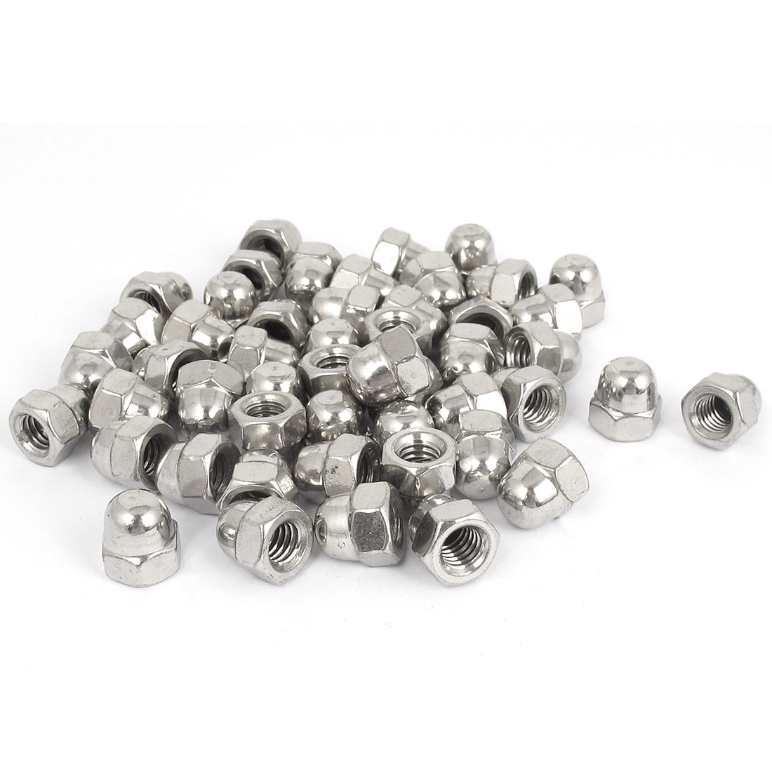 """5/16""""-18 Stainless Steel Dome Head Cap Acorn Hex Nuts 50Pcs"""