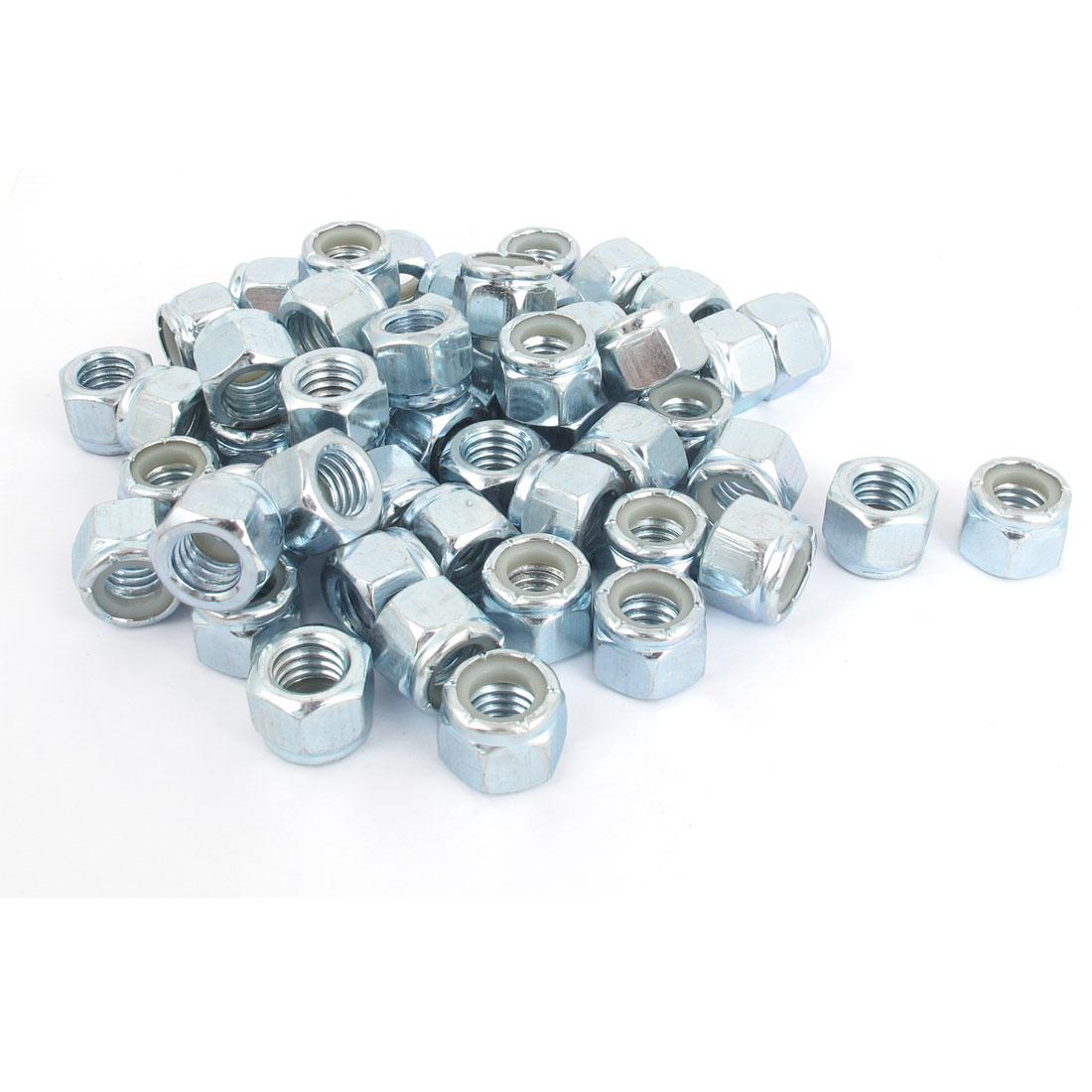 "3/8""-16 Zinc Plated Self-Locking Nylock Nylon Insert Hex Lock Nuts 100Pcs"