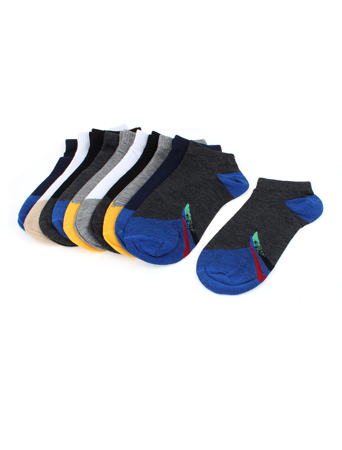 Stretchy Cotton Blends Sports Athletic Socks for Men 10 Pairs Assorted Color