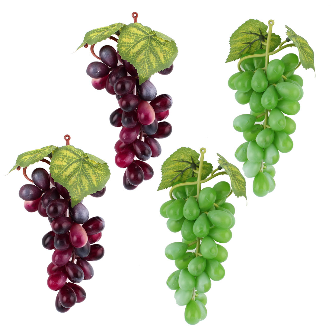 Desk Table Home Decor Artificial Simulation Grapes Green Dark Purple 4 Pcs
