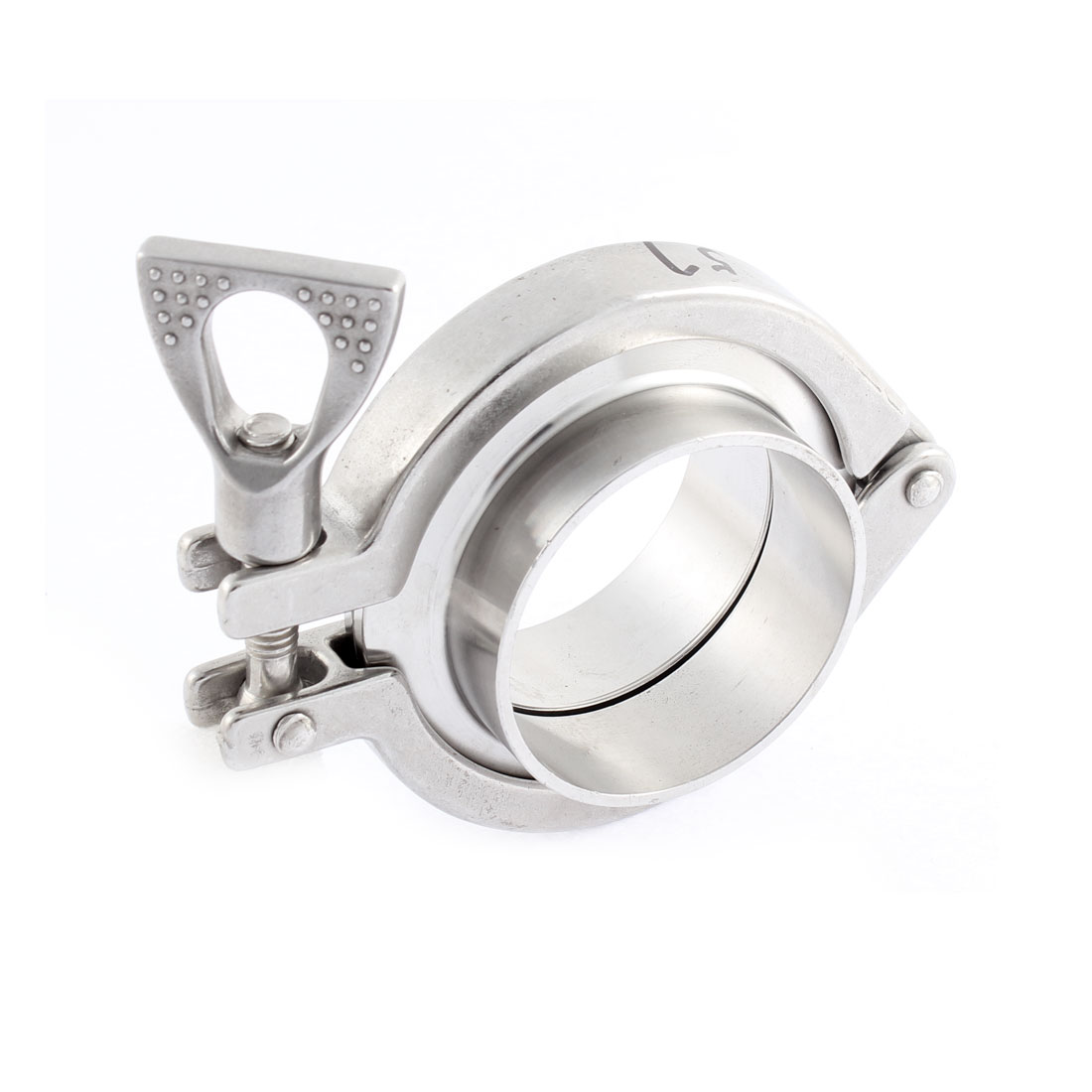 316 Stainless Steel 57mm Dia Tri-clamp Type Hygienic Sanitary Weld Pipe Clamp Ferrule Set
