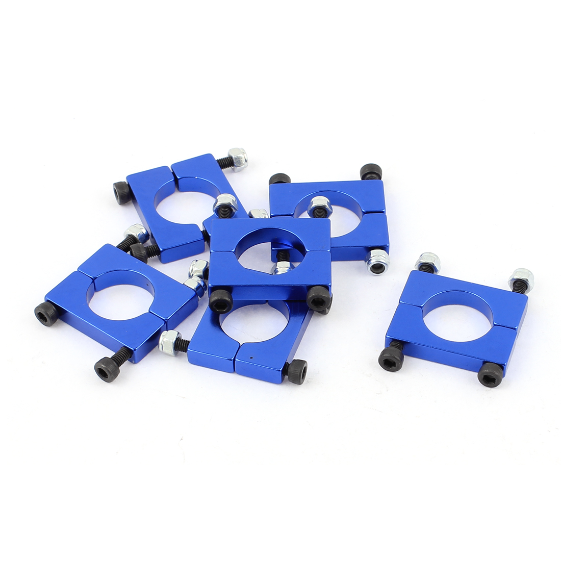 6pcs Alloy 16mm Tube Clip Fixture and Screw for Multicopter Tartor ATG 16mm Carbon tube Blue