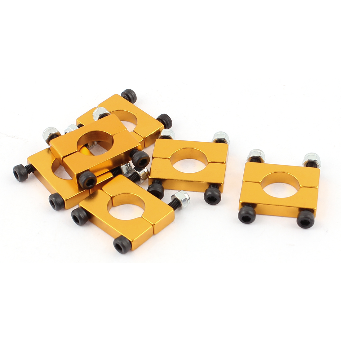 6Pcs 12mm Airplane Tube Clip for Carbon Fiber Quad copter Golden
