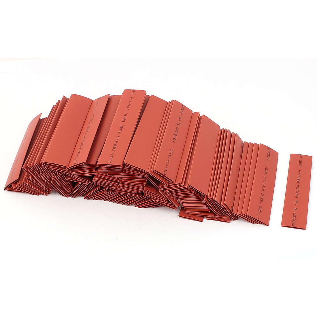 150pcs 12mm Dia 100mm Long Polyolefin 2:1 Heat Shrink Tubing Wire Wrap Sleeve Red