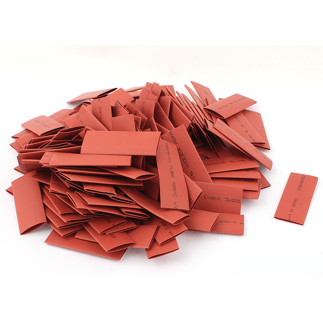 150pcs 14mm Dia 60mm Long Polyolefin 2:1 Heat Shrink Tubing Wire Wrap Sleeve Red