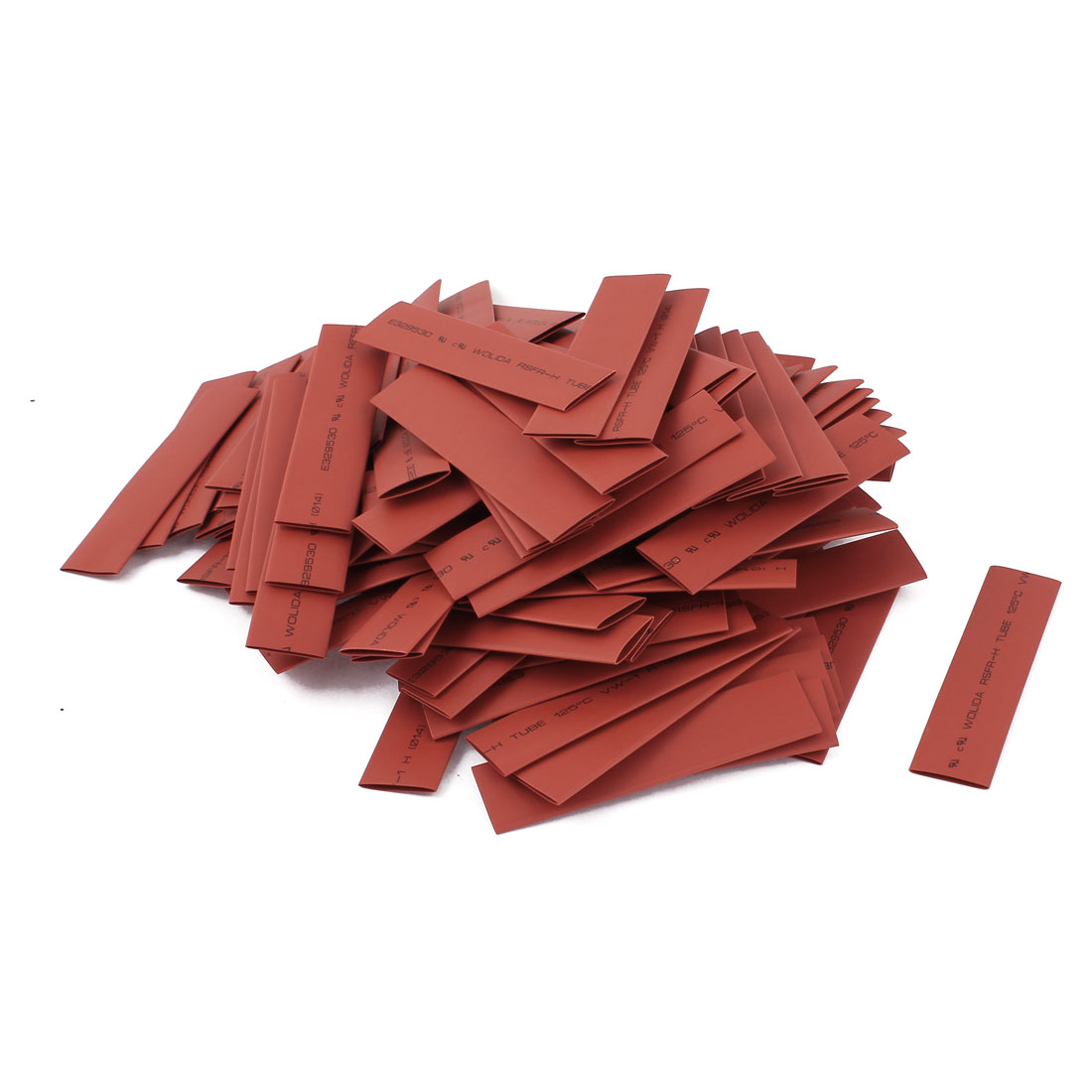 150pcs 14mm Dia 100mm Long Polyolefin 2:1 Heat Shrink Tubing Wrap Sleeve Red