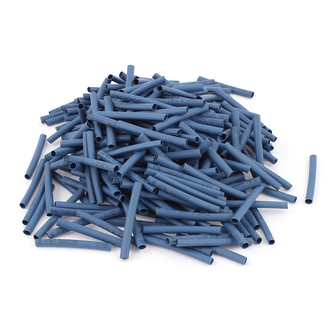 300pcs 4mm Dia 50mm Long Polyolefin Heat Shrink Tubing Wire Wrap Sleeve Blue